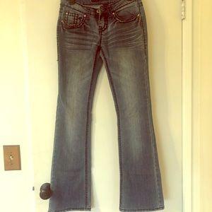 Blue Asphalt bootcut jeans, size 5 regular